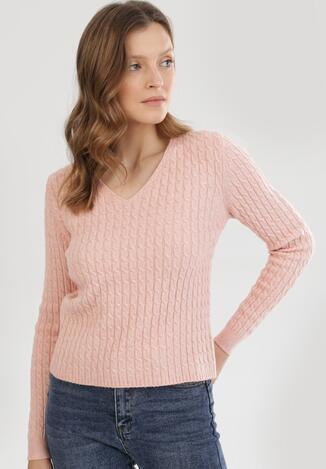 Jasnoróżowy Sweter Spiteteeth