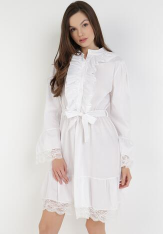 Biała Sukienka Trislar