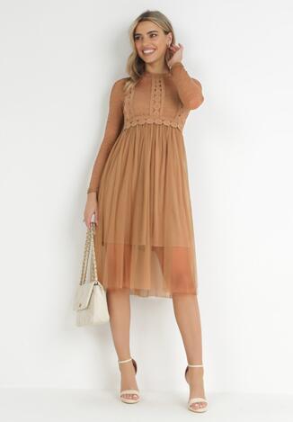 Brązowa Sukienka Jynerris