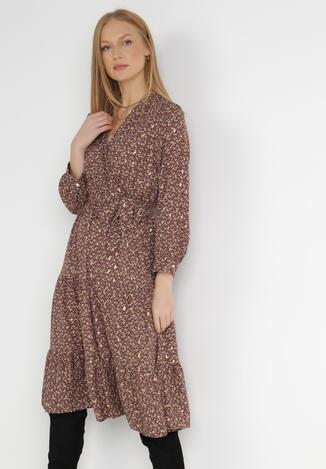 Brązowa Sukienka Grephyra