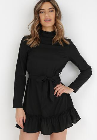 Czarna Sukienka Leodi