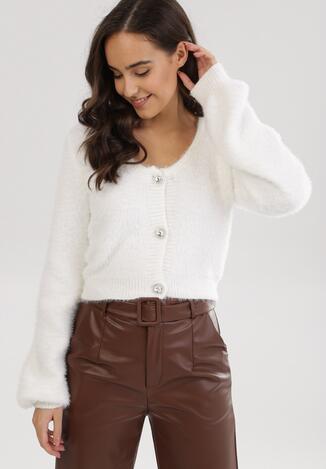 Biały Sweter Perydark