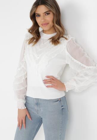 Biały Sweter Whisperdust