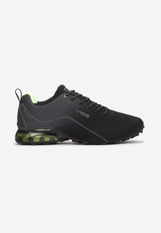 Czarno-Zielone Buty Sportowe Alcidise