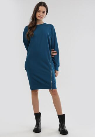 Niebieska Sukienka Leucomene