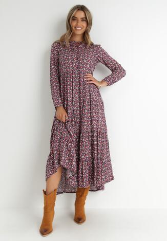 Fioletowa Sukienka Amylia