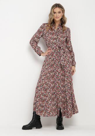 Czarno-Różowa Sukienka Adrearith