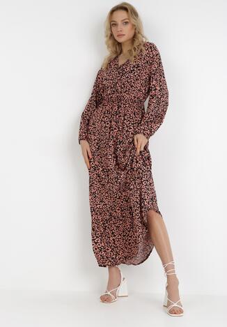 Czarno-Różowa Sukienka Xyllyss