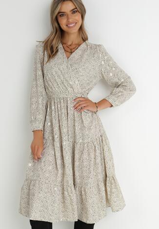 Jasnobeżowa Sukienka Cintrine