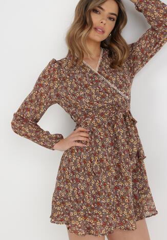 Brązowa Sukienka Kalliseise