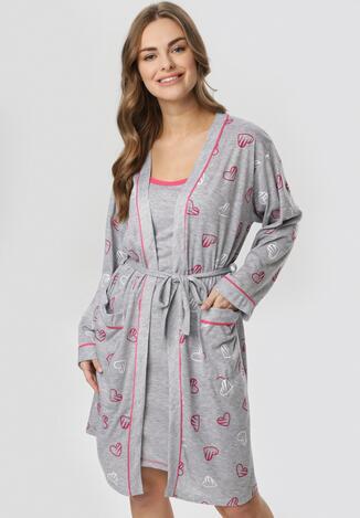 Szaro-Różowa Koszula Nocna Salaleora