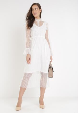 Biała Sukienka Zellraya