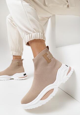 Beżowe Sneakersy Alarose
