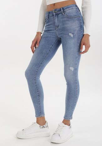 Niebieskie Jeansy Skinny Klethyia
