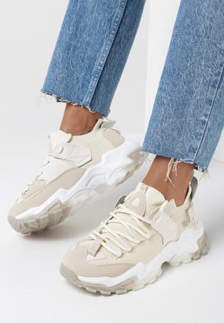 Beżowe Sneakersy Vicandi