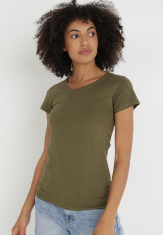 Khaki T-shirt Delolle