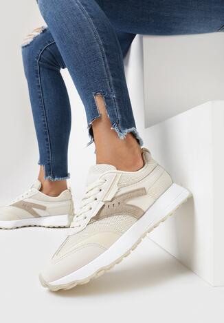 Beżowe Buty Sportowe Essi