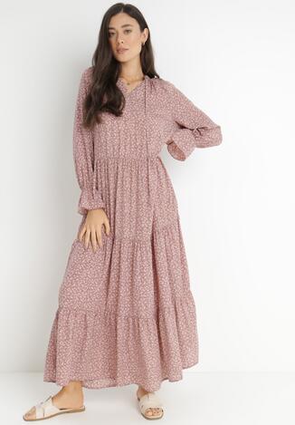 Ciemnoróżowa Sukienka Adrasixie