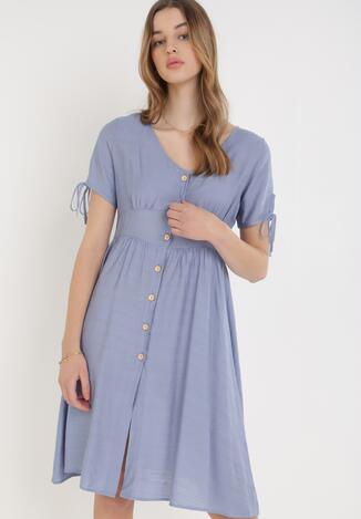 Niebieska Sukienka Sylphophi