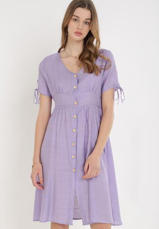 Liliowa Sukienka Sylphophi