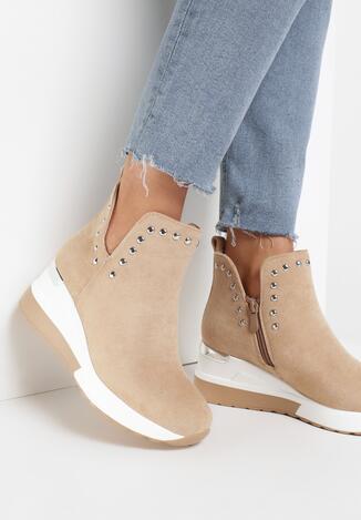 Beżowe Sneakersy Delmabel