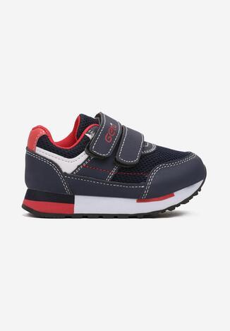 Niebiesko-Czerwone Buty Sportowe Ginerian