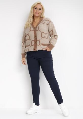 Granatowe Spodnie Skinny Renaya