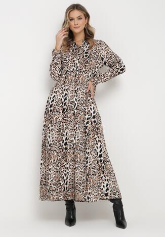 Beżowa Sukienka Adolia