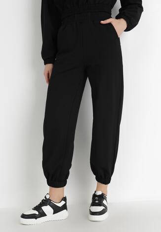 Czarne Spodnie Dresowe Thelxiesise