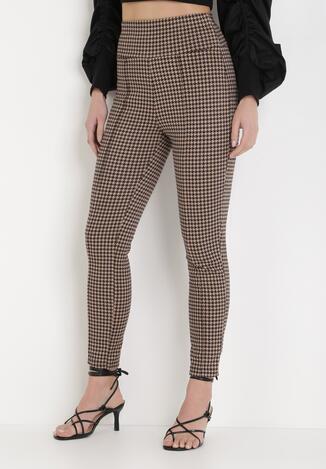 Beżowe Spodnie Skinny Cheriros