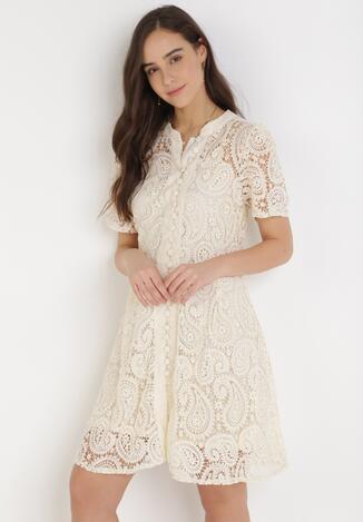 Kremowa Sukienka Asithise