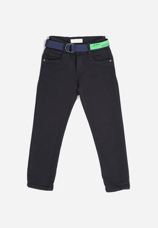 Granatowe Spodnie Breaenna
