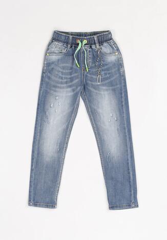 Niebieskie Jeansy Regular Glynnii