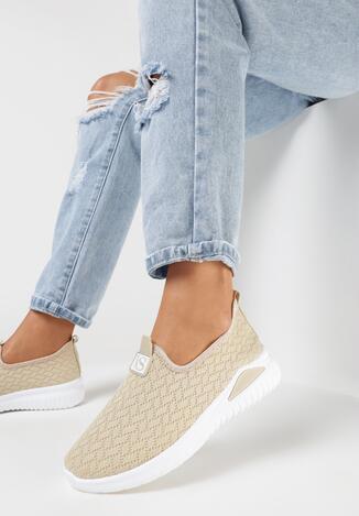Beżowe Buty Sportowe Idahsise