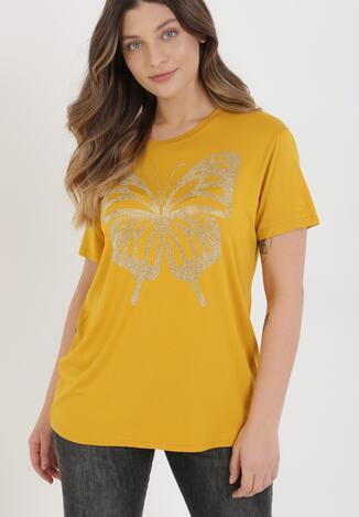 Żółty T-shirt Adopheia