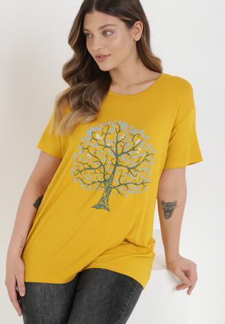 Żółty T-shirt Danice