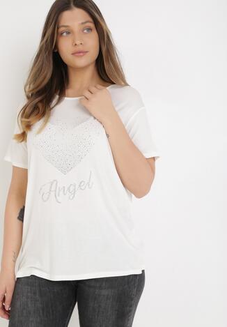 Biały T-shirt Avae