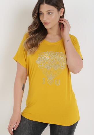 Żółty T-shirt Misah