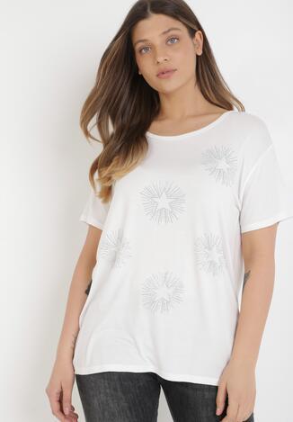 Biały T-shirt Cayelyn