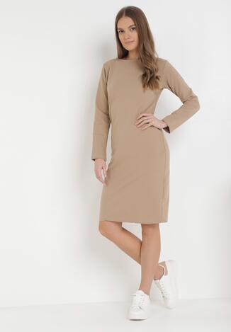 Jasnobeżowa Sukienka Sanya