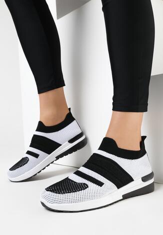 Biało-Czarne Buty Sportowe Myrrh