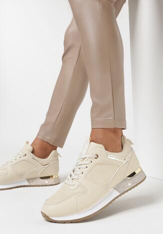 Beżowe Buty Sportowe Kayetlyn