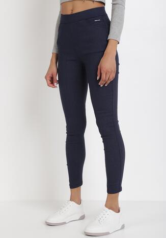Granatowe Spodnie Larailis