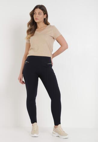 Granatowe Spodnie Eiael