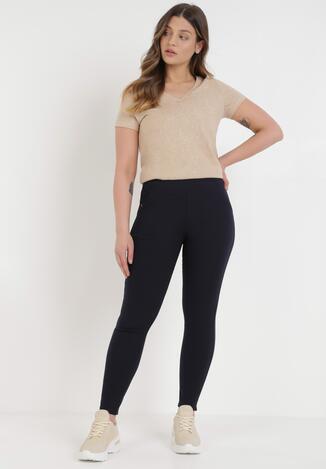Granatowe Spodnie Skinny Asteraoth