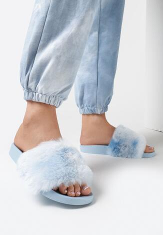 Niebieskie Klapki Pamyel