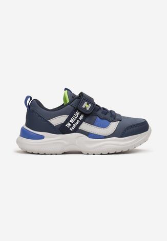 Granatowo-Niebieskie Buty Sportowe Kylura