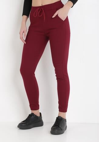 Bordowe Spodnie Puriel