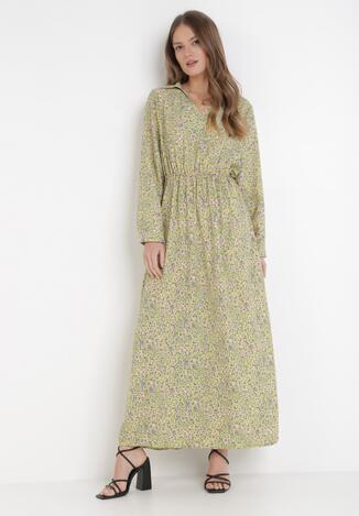 Jasnozielona Sukienka Tryne