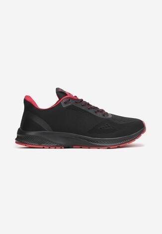Czarno-Czerwone Buty Sportowe Abathe